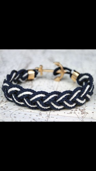 jewels anchor blue bracelet blue and white blue and white bracelet anchor bracelet