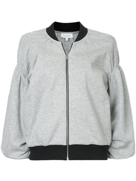 Ck Calvin Klein jacket women cotton grey