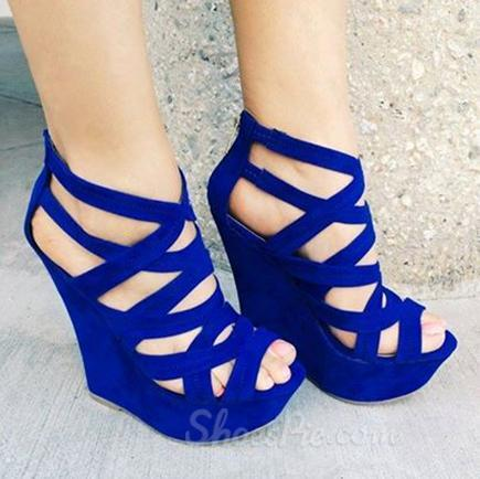 Outs wedge heel sandals