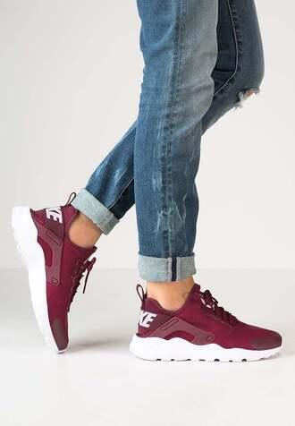 shoes huarache nike nike sneakers nike shoes burgundy maroon/burgundy nike running shoes nike hurache