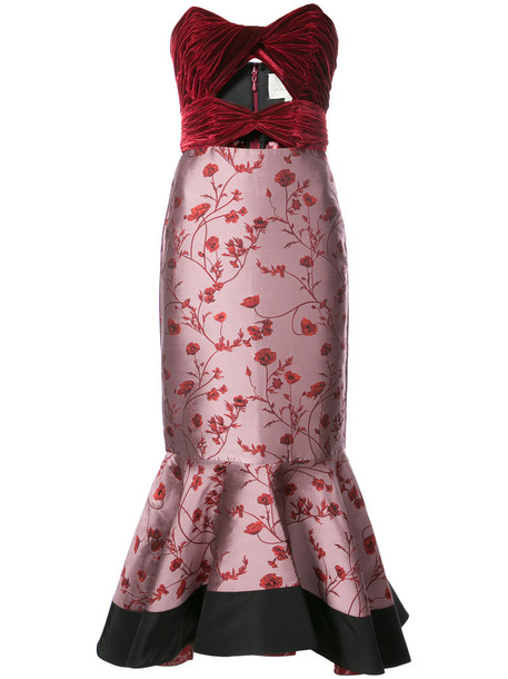 dress sleeveless women silk red