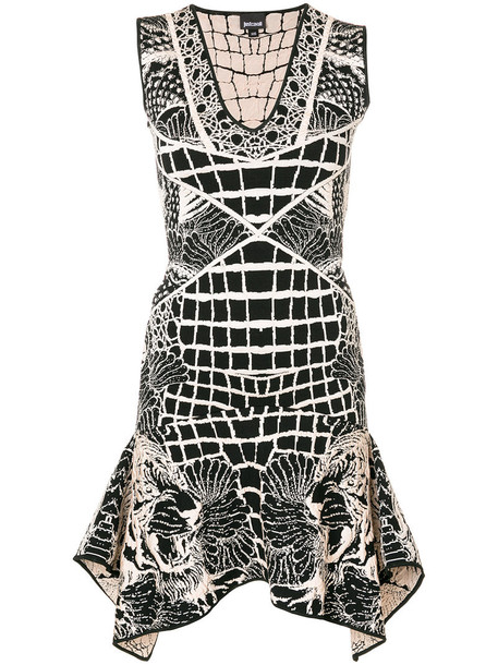 just cavalli dress embroidered dress embroidered women spandex tiger black