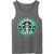 Starbucks coffee grey tank top - teenamycs
