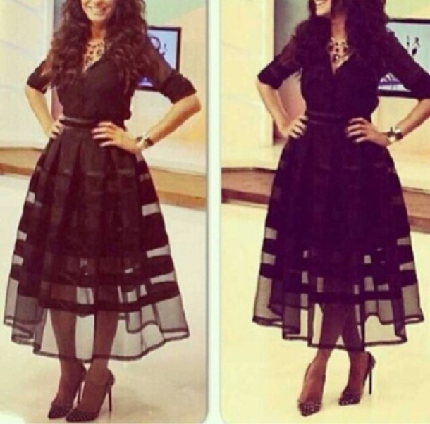dress black dress dress black see through dress see through long sleeve dress