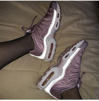 shoes nike reflective pink mauve purple low top sneakers