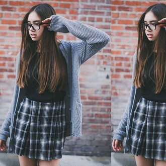 skirt black and white black skirt flannel