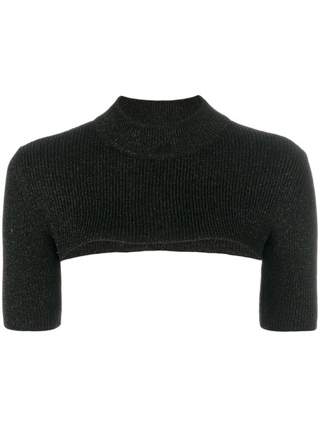 RED VALENTINO t-shirt shirt t-shirt women knit grey metallic top