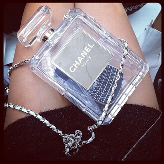 bag clutch perspex chanel perfume shaped perfume no5 fashion trend style blouse phone case chanel bag chanel no. 5 handbag chanel perfume clutch !