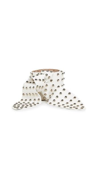 studded belt studded belt pearl silver