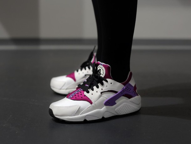 shoes nike huarache purple white