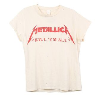 t-shirt white red metallica quote on it metal kill kill em all band rock