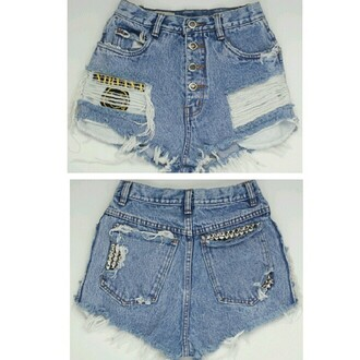 shorts fashion nirvana cut off shorts ripped shorts denim shorts grunge soft grunge studs 90s grunge vintage denim vintage levis distressed denim light washed denim denim etsy tumblr tumblr shorts tumblr clothes instagram summer summer 2013