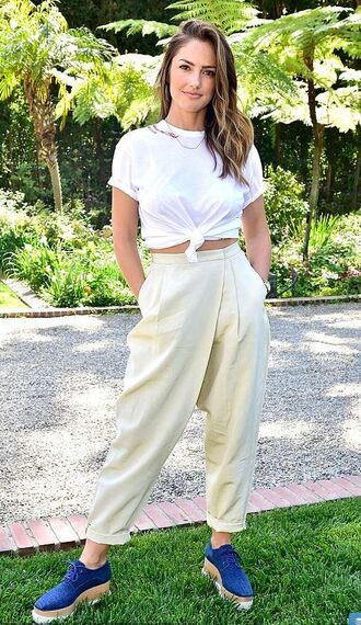 shoes top minka kelly spring outfits spring pants