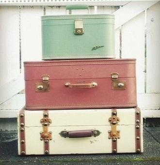 home accessory vintage retro suitcase