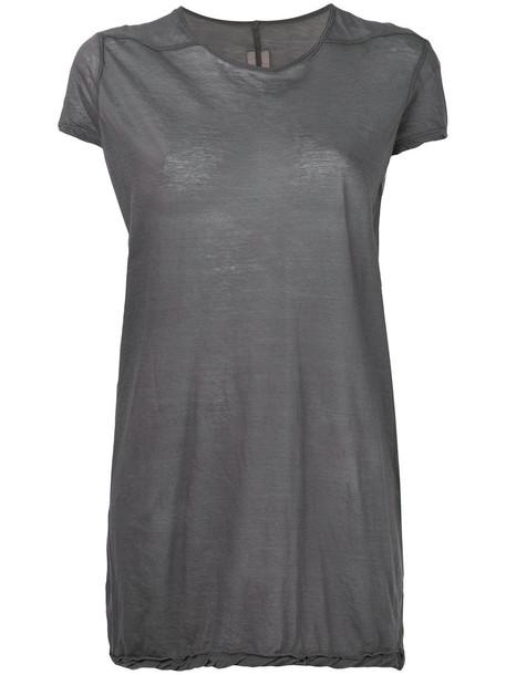 Rick Owens t-shirt shirt t-shirt women cotton grey top