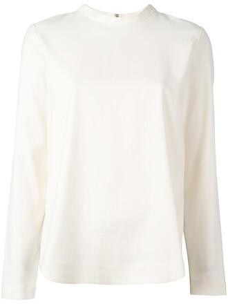 blouse zip women spandex nude cotton top