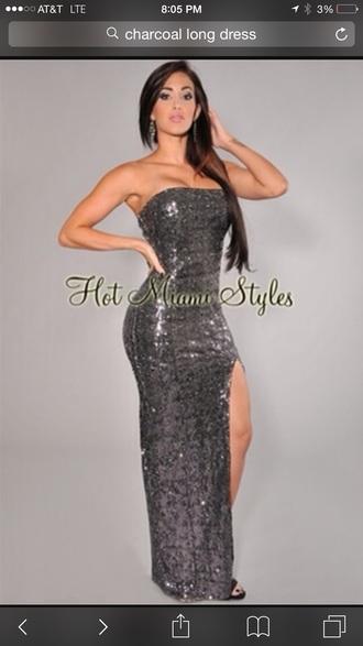 dress charcoal long dress