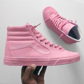 shoes pink pastel sneakers urban pastel pink sk8-hi sneakers vans baby pink perfect rihanna high top sneakers girly pink vans pink sneakers leather