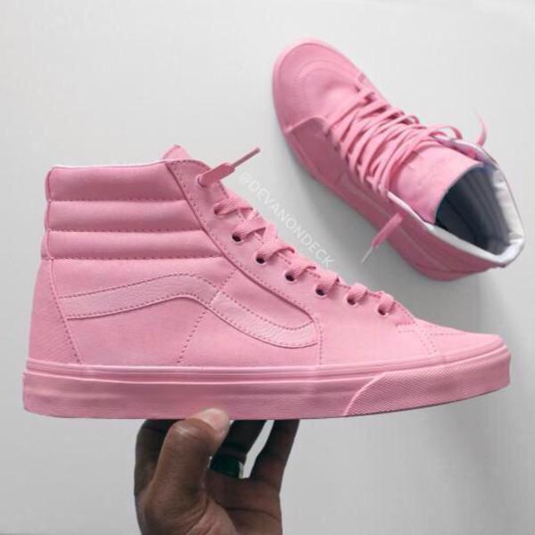 light pink vans high tops