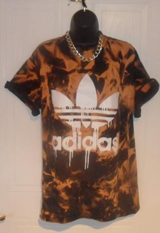 unisex customised adidas grunge acid wash tie dye t shirt  | mysticclothing | ASOS Marketplace