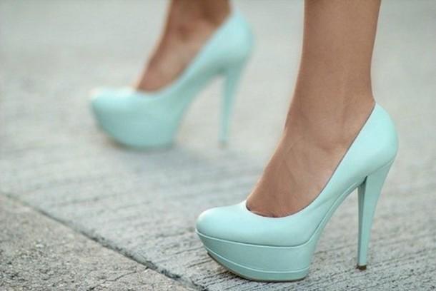 shoes mint high heels