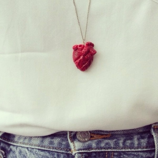 jewels real heart heart jewelry necklace heart