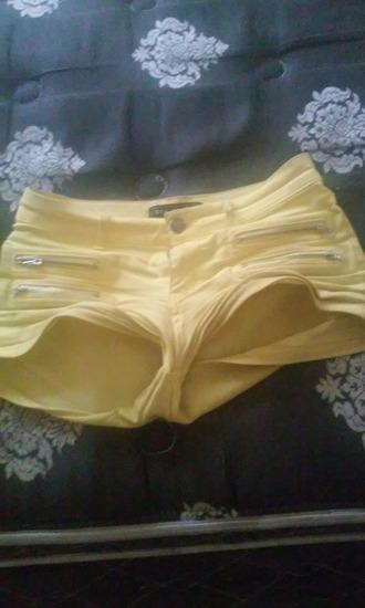 shorts yellow skirt