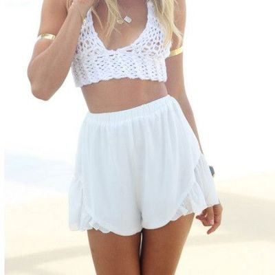 White flounce shorts · vexened · Online Store Powered by Storenvy