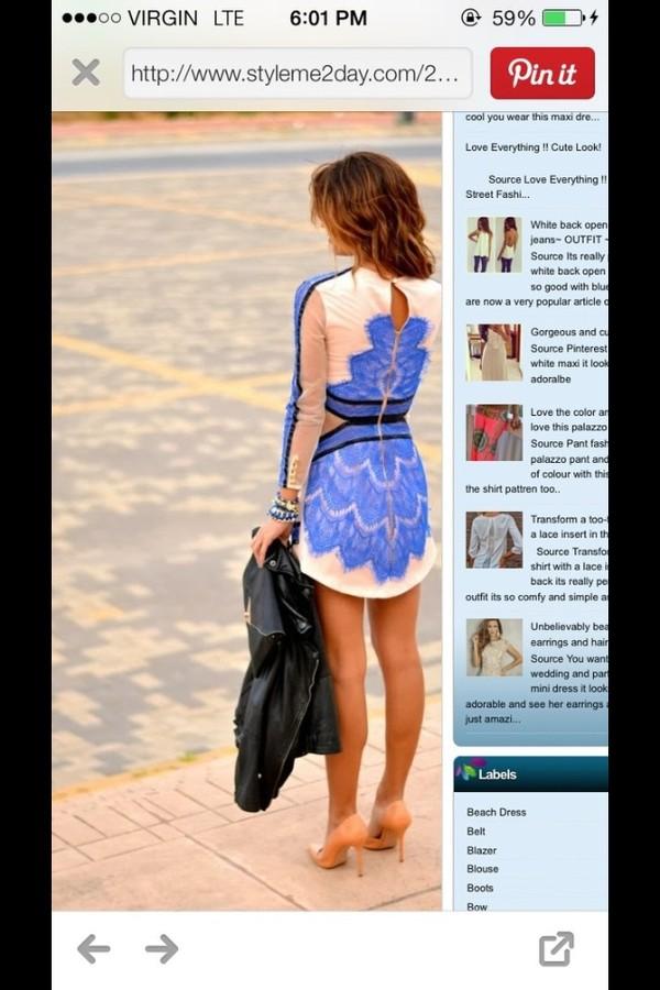 dress black blue short shoes