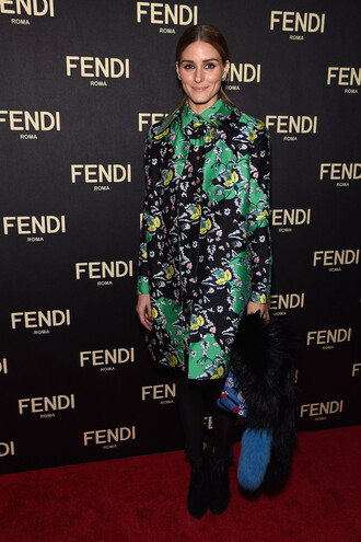 coat floral olivia palermo