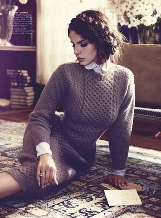 dress lana del rey knitted dress editorial