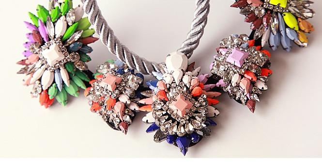 Ivana Cord Crystal Necklace – Glamzelle