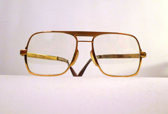 eyeglasses eyewear glasses gold vintage 1970s