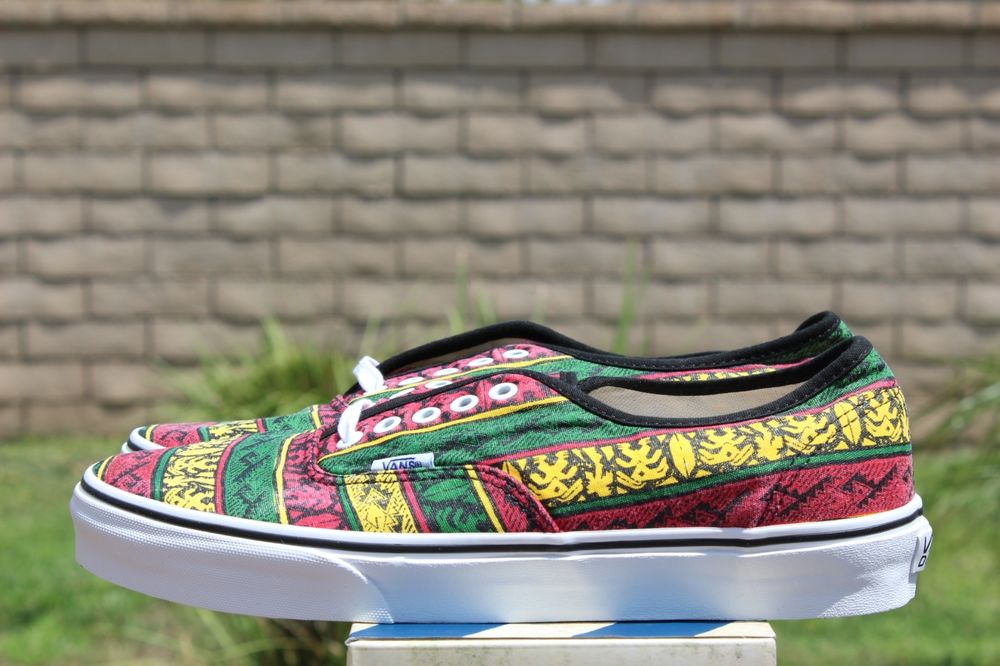 Vans Authentic Van Doren Rasta Tribal Surf Print Sz 12 VN 0TSV8X9 | eBay