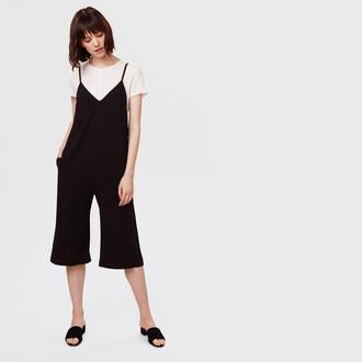 jumpsuit culottes cropped zara