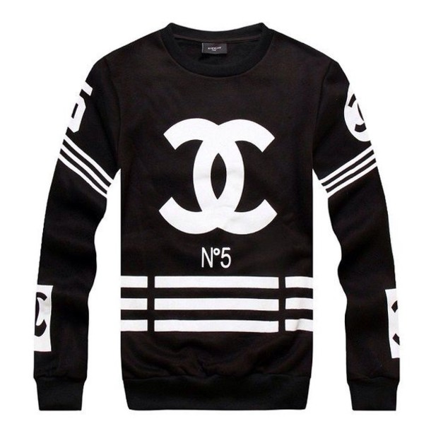 sweater menswear mens sweater style swag fashion chanel black coco chanel ccsweater n 5. Black Bedroom Furniture Sets. Home Design Ideas