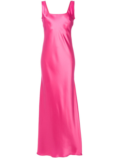 long gown gown long women silk purple pink dress