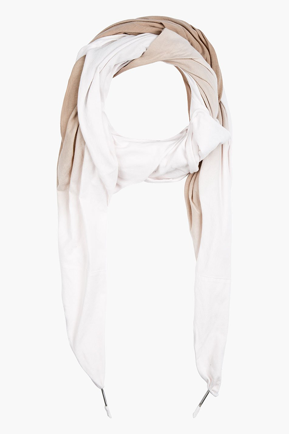 silent by damir doma pink and tan ombre scarf