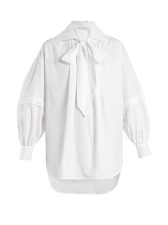 blouse oversized cotton white top