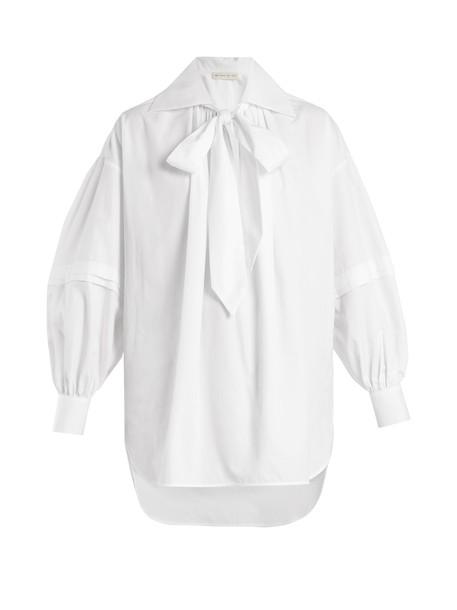 ETRO blouse oversized cotton white top