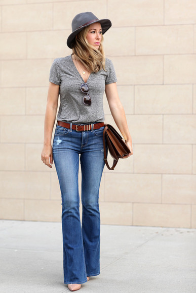 Belt bag shoes jeans sunglasses brooklyn blonde t-shirt