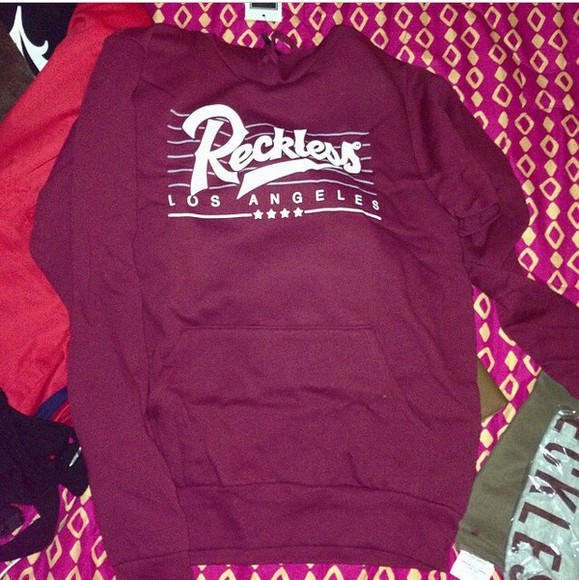 burgundy sweater recklessclothes
