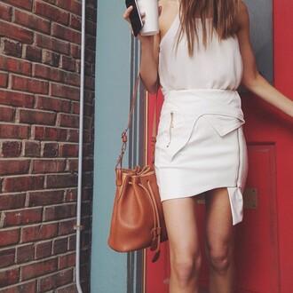 skirt white leather skirt white skirt leather skirt bogatte asymmetrical skirt