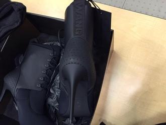 shoes booties black alexander wang boots black heels matte