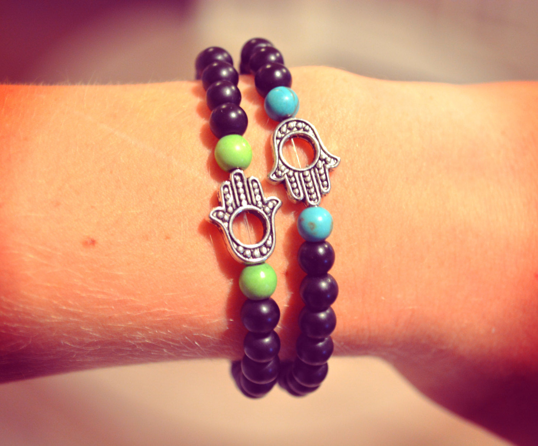 Hamsa bracelet hamsa hand arm candy peace bracelet beaded hamsa bracelet stretchy boho hippie bracelet bohemian arm candy beaded love
