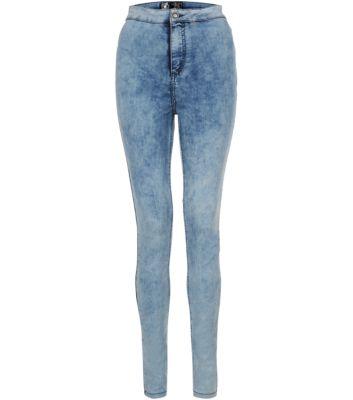 Blue Mottled Denim Disco Jeans