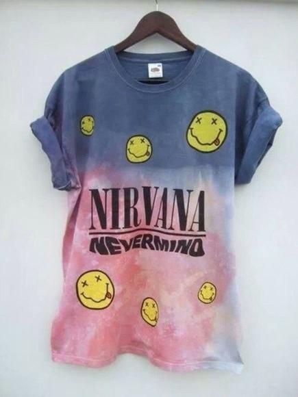 ombre grunge t-shirt nirvana t-shirt nirvana nevermind