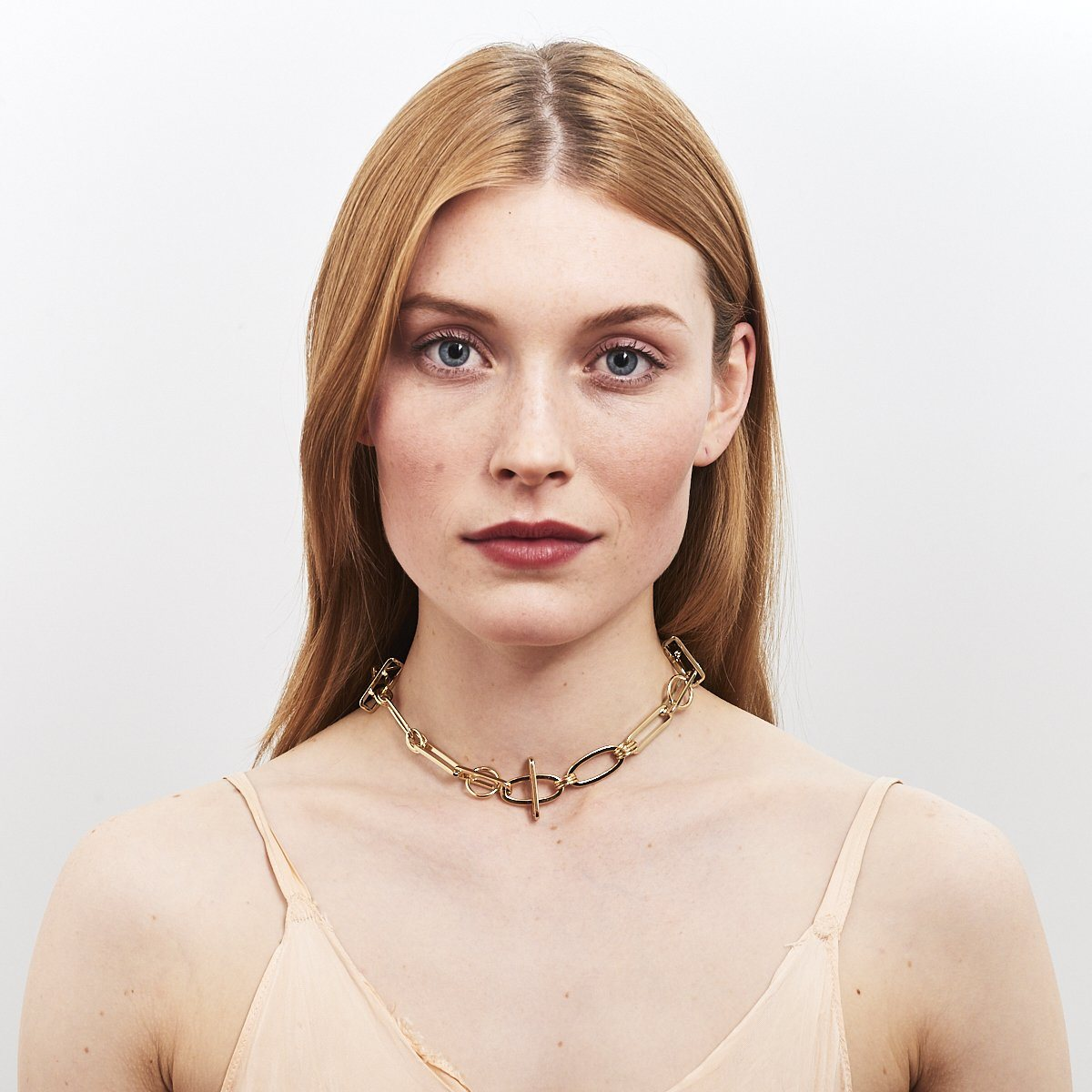 Dannijo Youme Chunky Link Gold Necklace