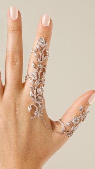 jewels jewelry knuckle ring ring rings and tings bling silver jewelry