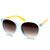 Summer Retro 2 Tone Colorful P3 Round Sunglasses 9103                           | zeroUV